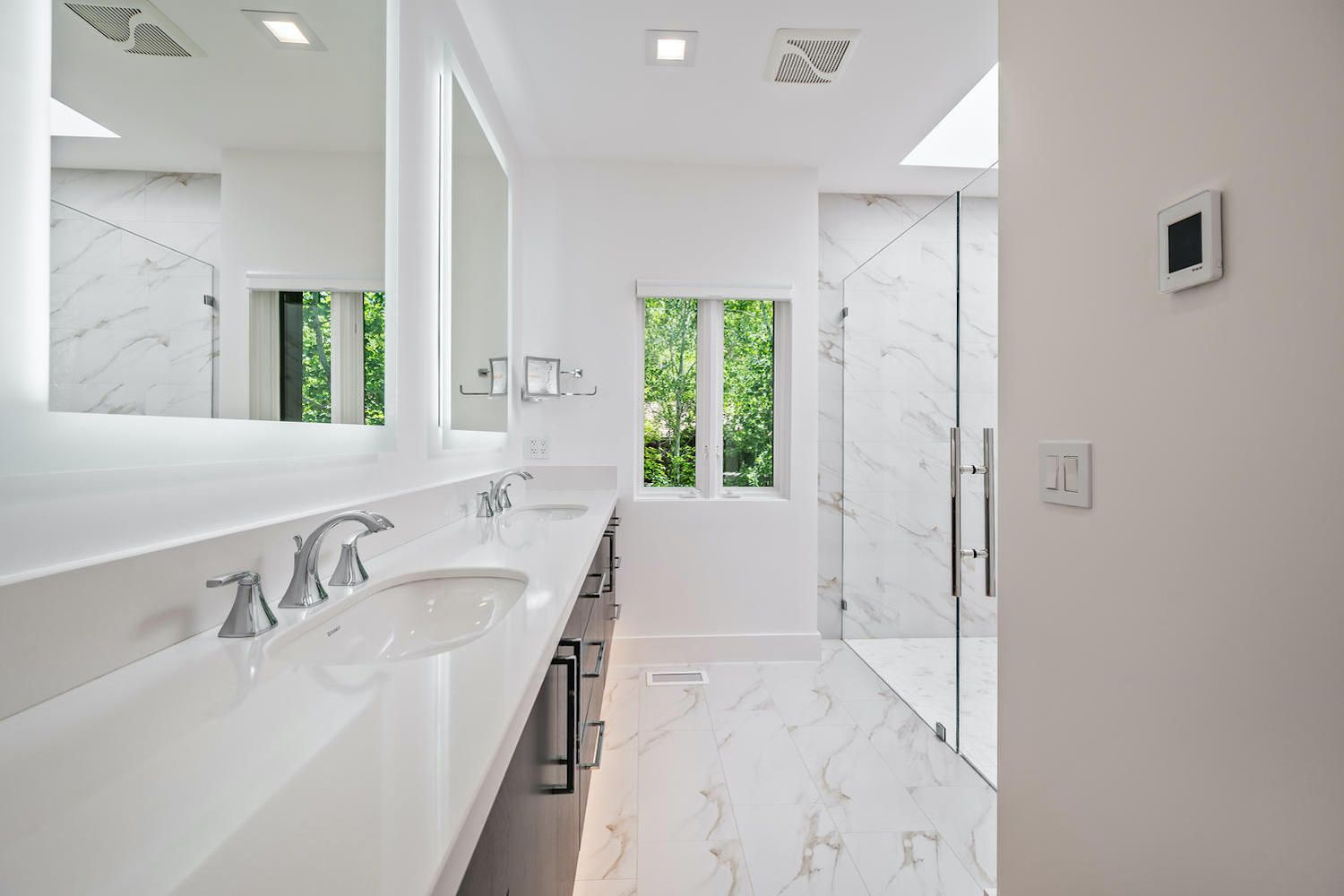 Mid-Century Modern primary bathroom in Reno, NV after remodel